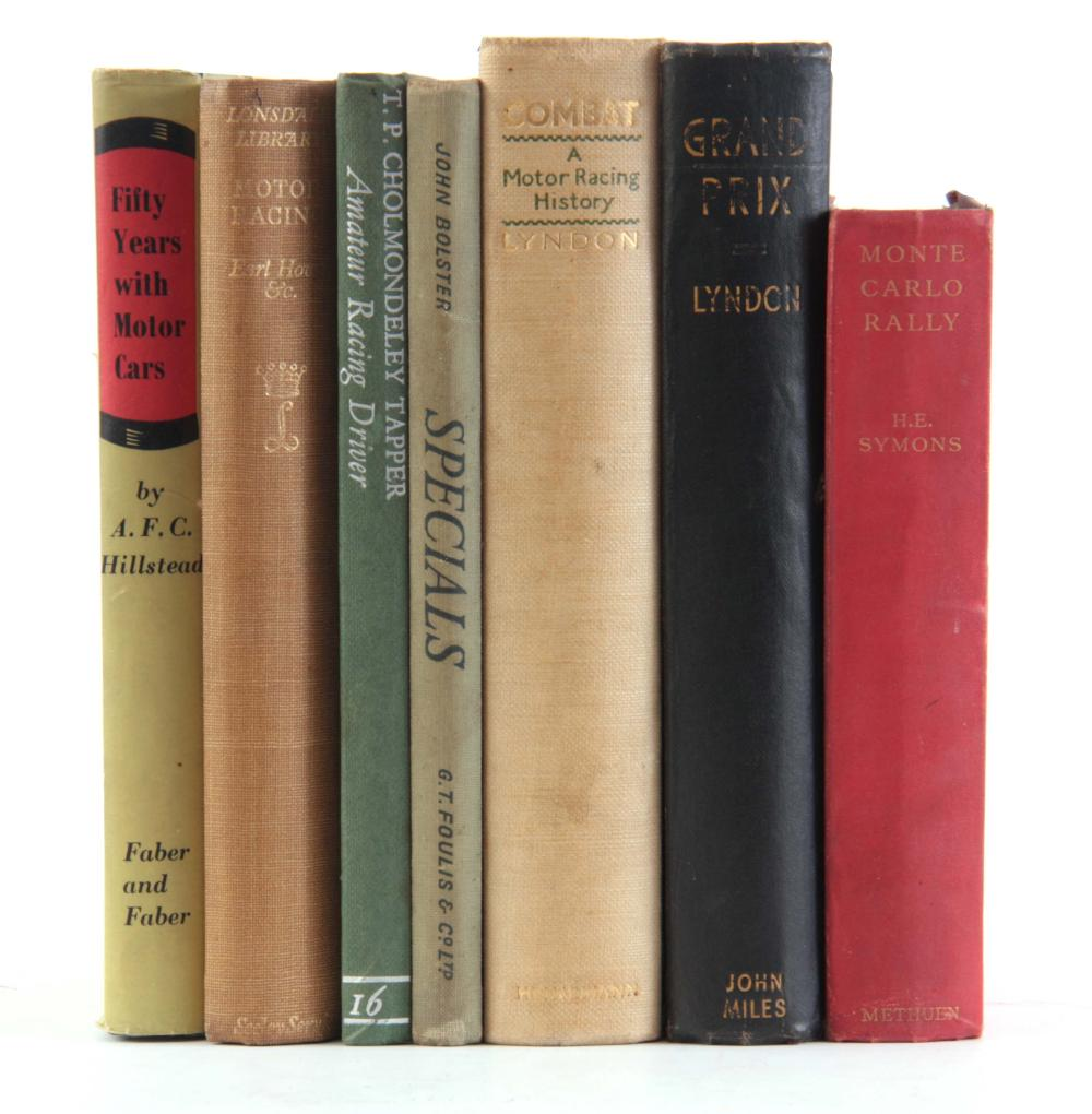 A COLLECTION OF 7 BOOKS including, MONTE CARLO RAL