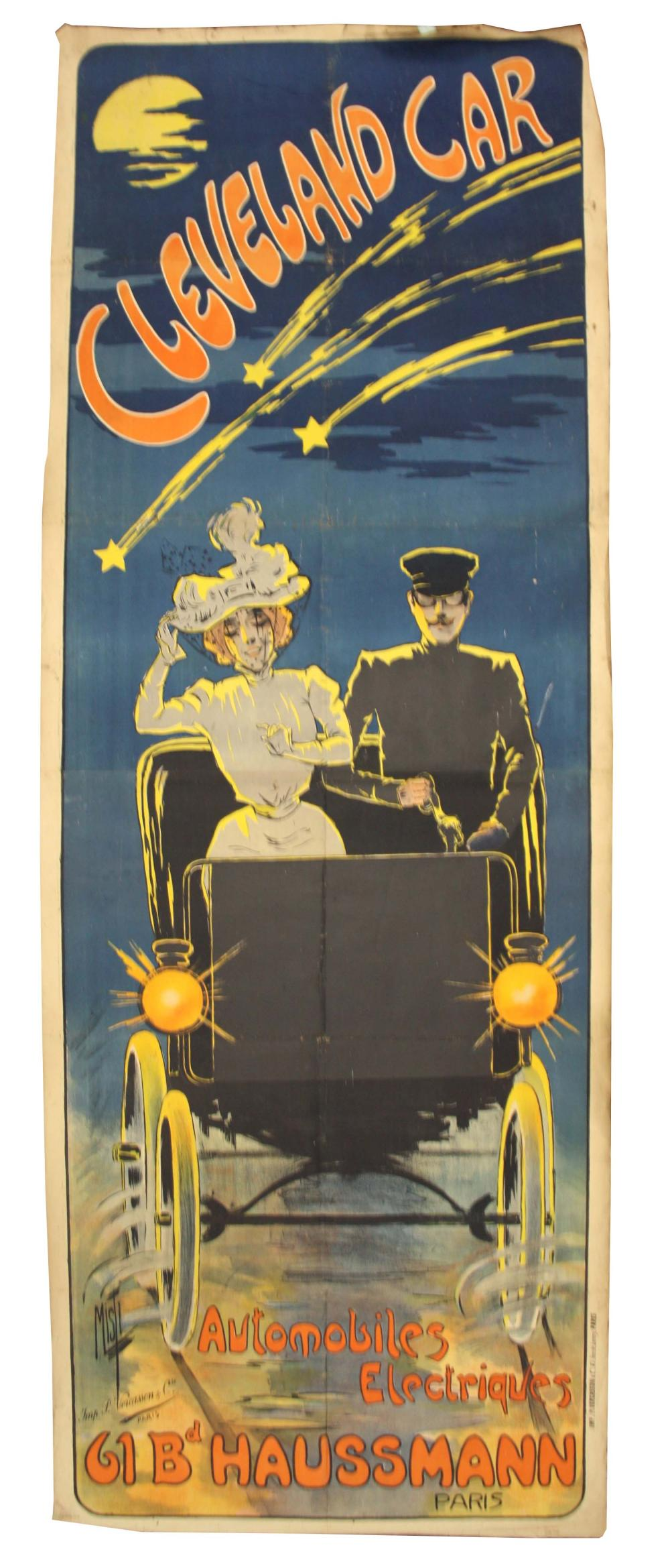 A VERY LARGE EARLY 20th CENTURY ADVERTISING POSTER
