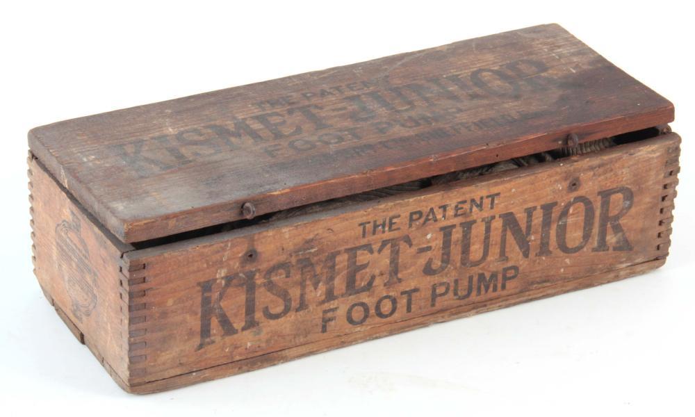 A KISMET JUNIOR FOOT PUMP in the original box.