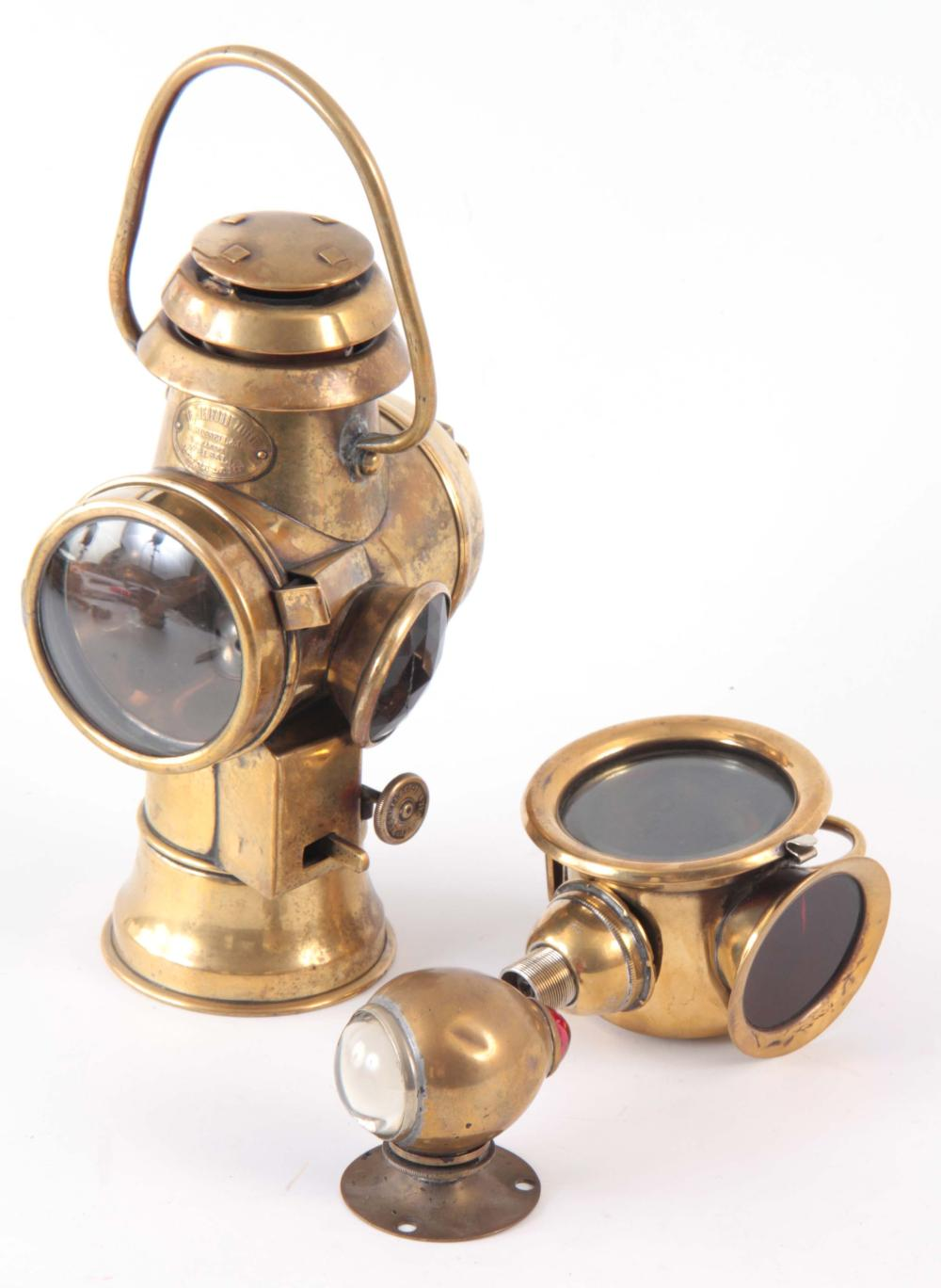 A BRASS 'THE BEDFORD PATENT' A. RUSSELL & CO OIL T
