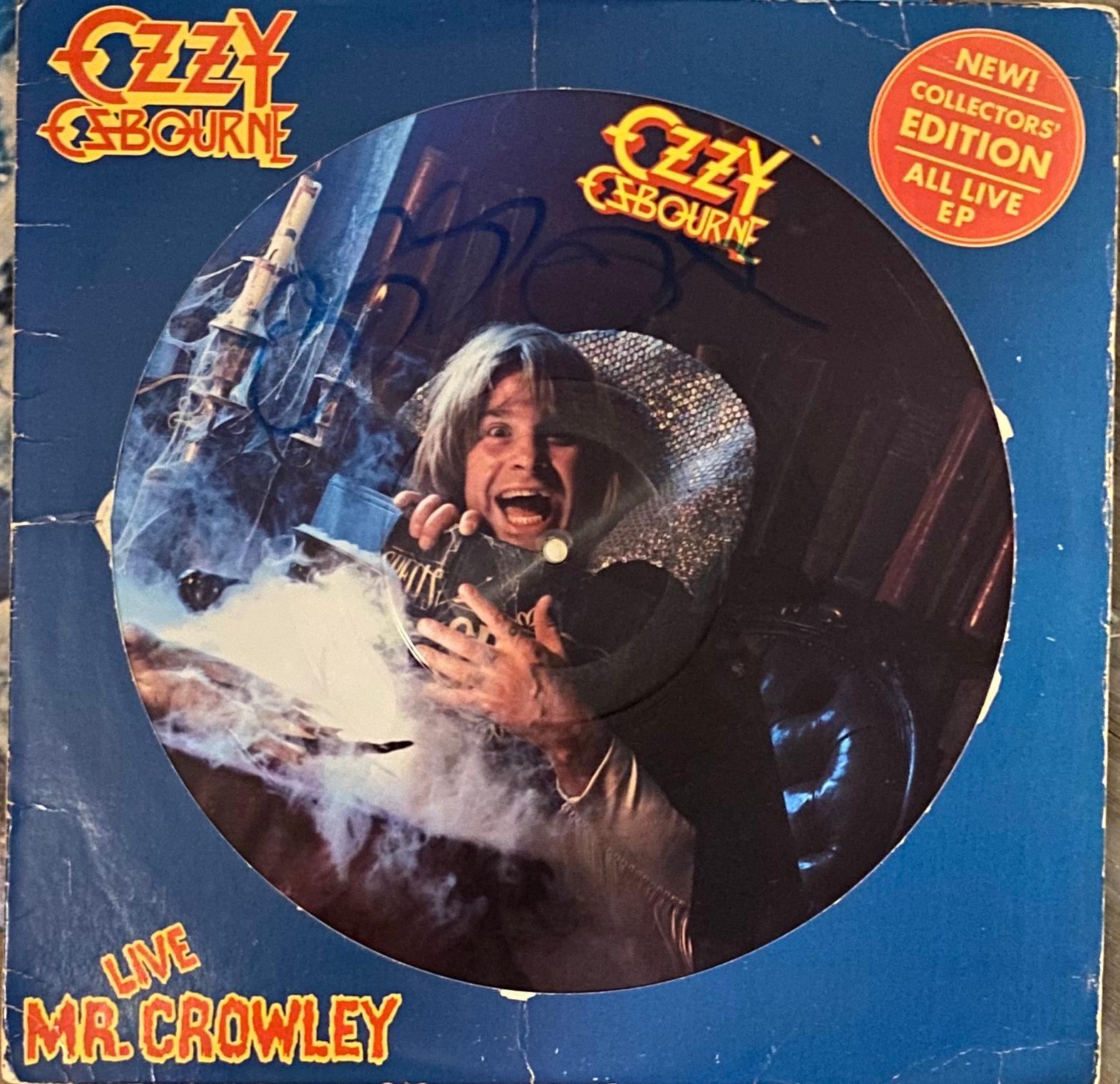 Ozzy Osbourne Autographed Album