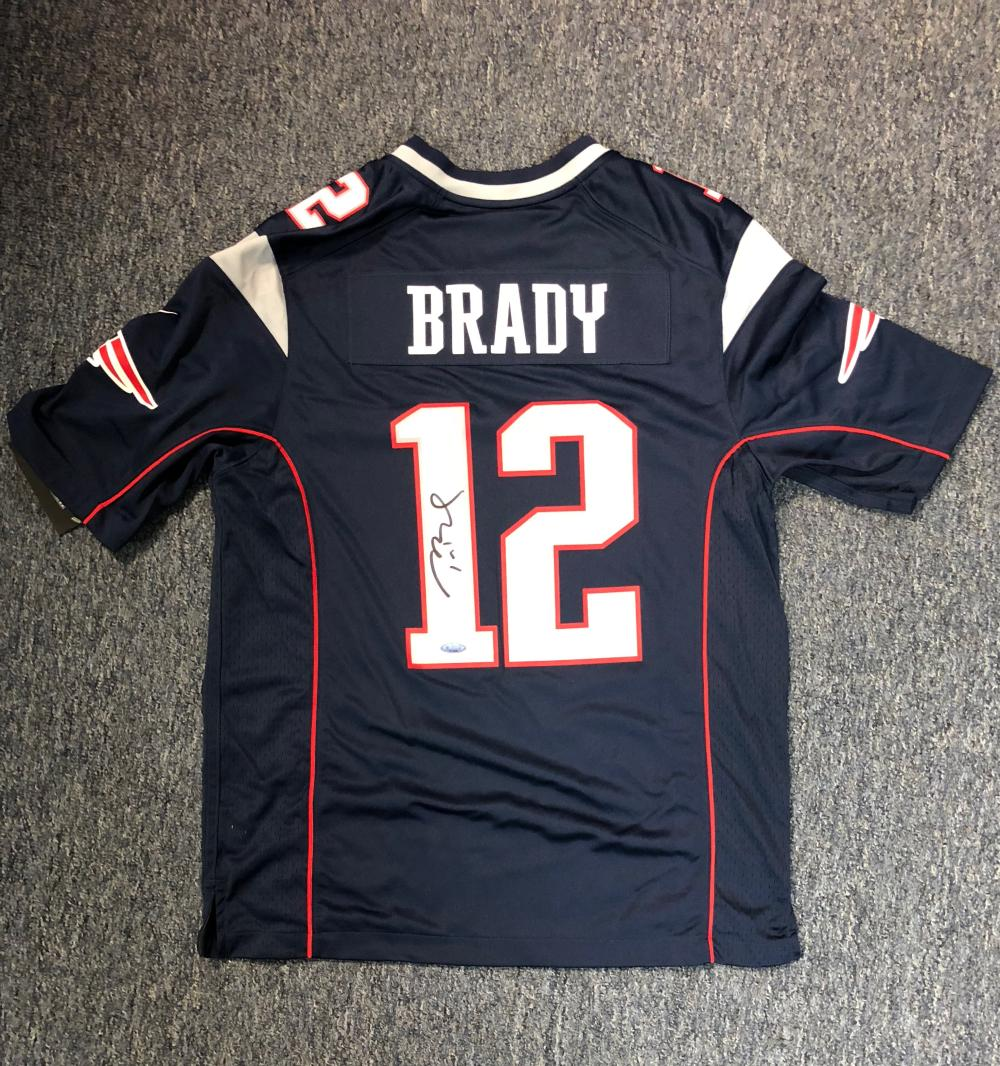 Tom Brady Autographed Patriots Jersey Tristar