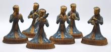 Group of Chinese Pottery Figurines of Musicians
