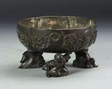 Japanese Bronze Tripod Censer