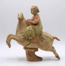 Chinese Color Glazed Pottery Figurine
