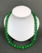 Natural Untreated Jadeite Necklace