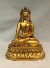 Chinese Gilt Bronze Buddha Statue
