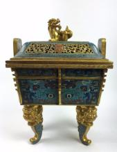 Chinese Imperial Cloisonne Archaistic Vessel