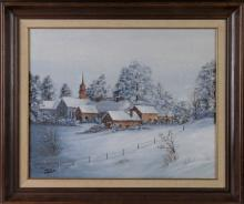 Teri Paquette, Oil Painting of a Winter Scene