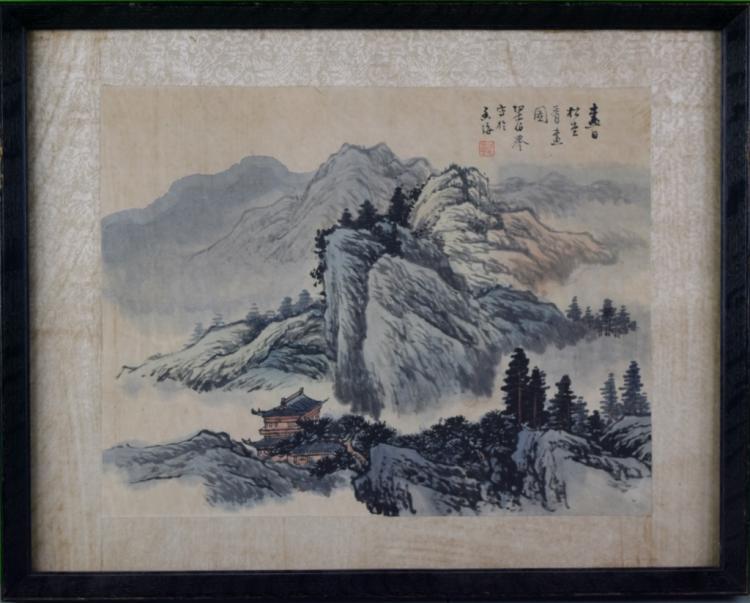 CHINESE LANDSCAPE PAINTING, LIANG BO-YU