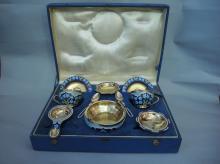 Russian Enamel Tea Set