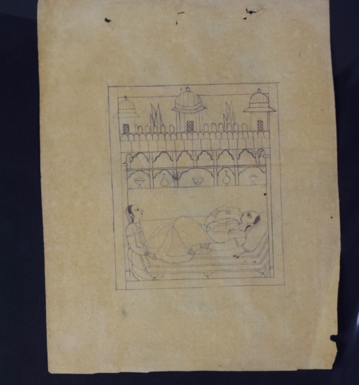 how to finish a letter three pahari indian sketch paintings 21549