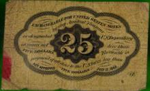 1ST ISSUE JEFFERSON FRACTIONAL POSTAGE CURRENCY