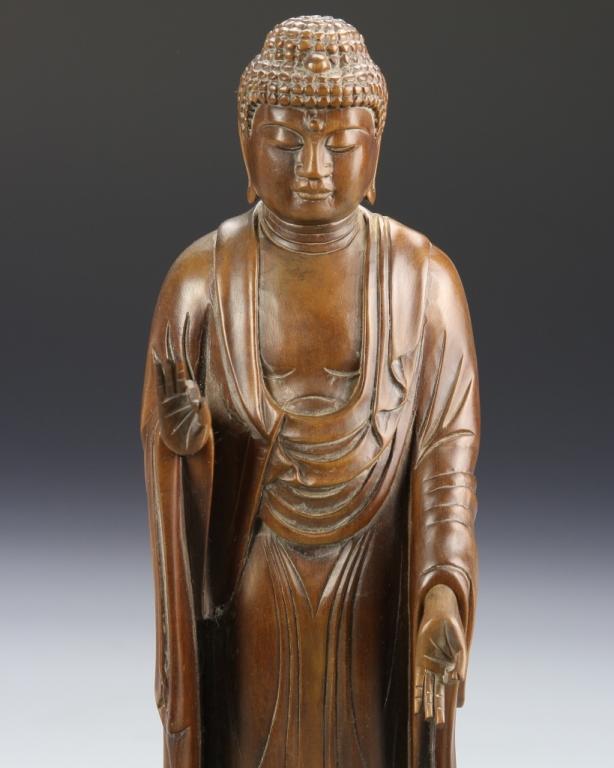 Chinese boxwood buddha figure