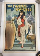 The Forty Thieves, British Theater Poster