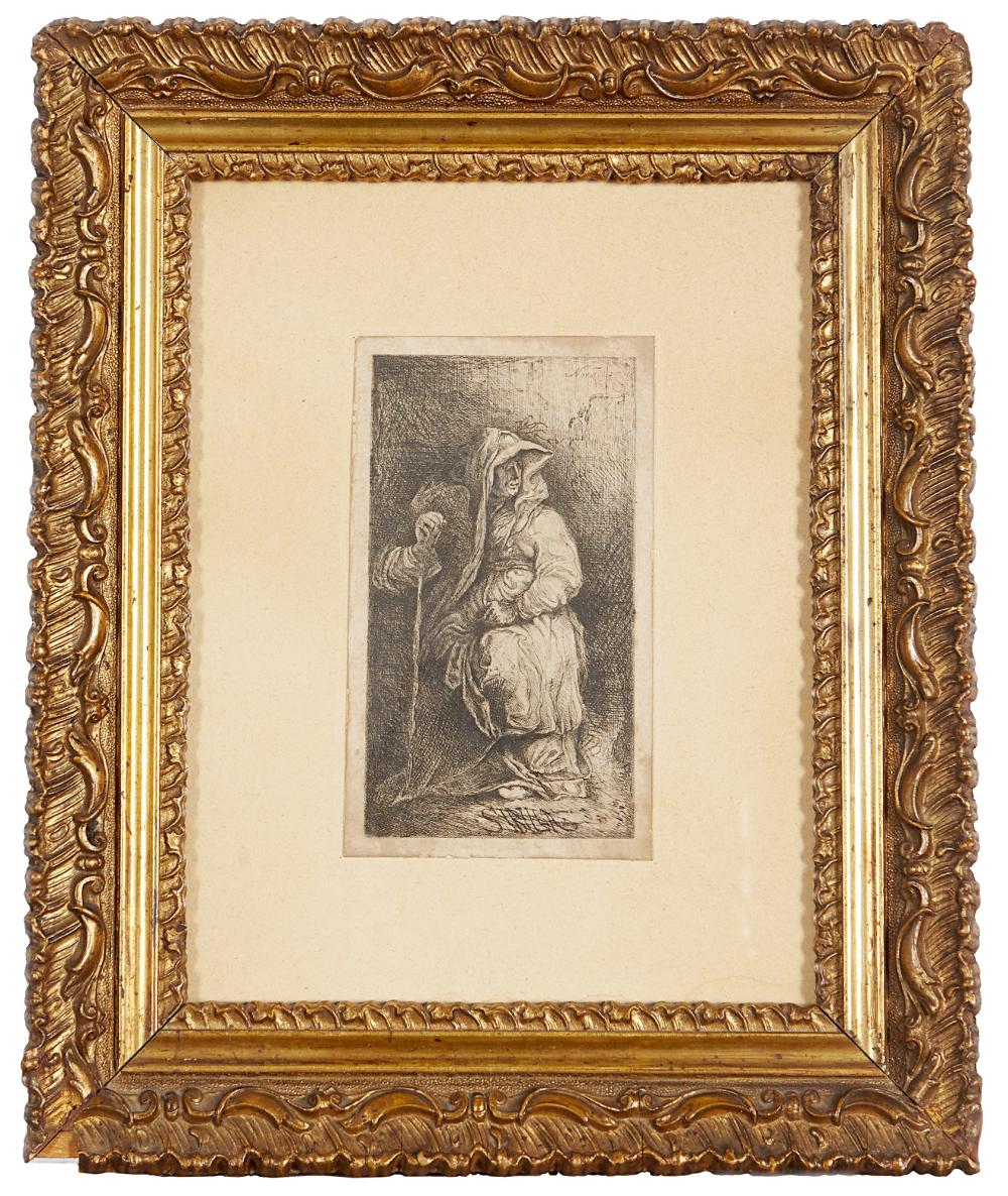 Cyprian Kamil Norwid Sibyl Etching, 130x75 mm. Signed and dated in the plate at upper right Framed (slight defects)...