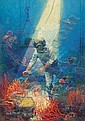 Pulp magazine cover, likely Sea Stories or Sea Novel, Walter L Greene, Click for value