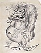 Stanley Mouse (b. 1940) Drawing, 1963; Monster, Stanley Mouse, Click for value