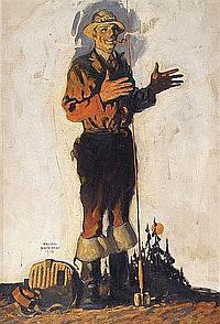 Walter Whitehead (1874-1956) Magazine cover, 1930;