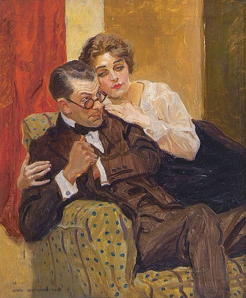 James Montgomery Flagg (1877-1960) Magazine cover,
