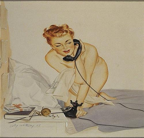 Coby Whitmore (1913-1988)Illustration, 1943; Nude
