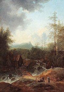 Johann Christian Brand (Wien 1722-1795 ebd.) Landschaft Ol auf Leinwand 117 x 164 cm