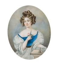 Carl von Saar; Portrait of Countess Sidonie Potocka