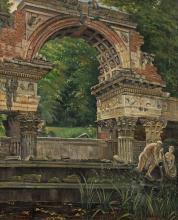 Ernst Graner Römische Ruine im Schlosspark von Schönbrunn
