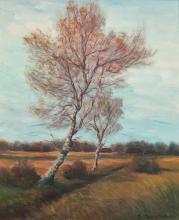 """Feodor (Theodor) Szerbakow """"Birken im Herbst"""""""