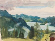 Ferdinand Kitt Landschaft mit Wolfgangsee
