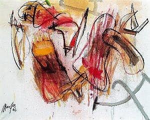Jurgen Messensee (Wien 1936 geb.) Nancy Acryl auf Leinwand 165 x 130 cm Signiert und datiert links unten: Messensee 82 Signiert, datiert und