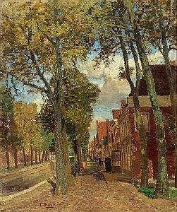Tina Blau (Wien 1845-1916 Wien) Kanal in Holland ol auf Karton 58 x 49,5 cm Signiert links unten: Tina Blau