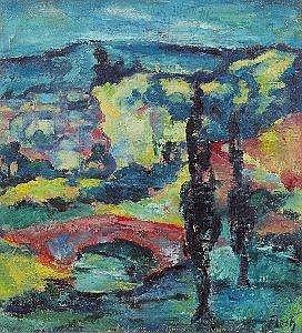 Josef Floch (Wien 1894-1977 New York) Wiener Ansicht ol auf Leinwand 32,5 x 30 cm Signiert rechts unten: Floch NORMALBESTEUERUNG Estimate -