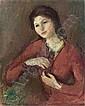 Gustav Hessing (Czernowitz 1909 - 1981 Wien) Bildnis einer jungen Frau al auf Leinwand 93,5 x 75,5 cm Signiert links unten: G Hessing Estimate -