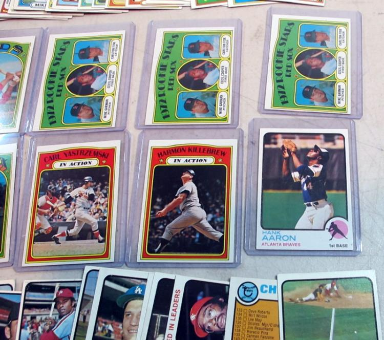 95 1972 1973 Topps Baseball Cards Fisk Rc Hank Aaron
