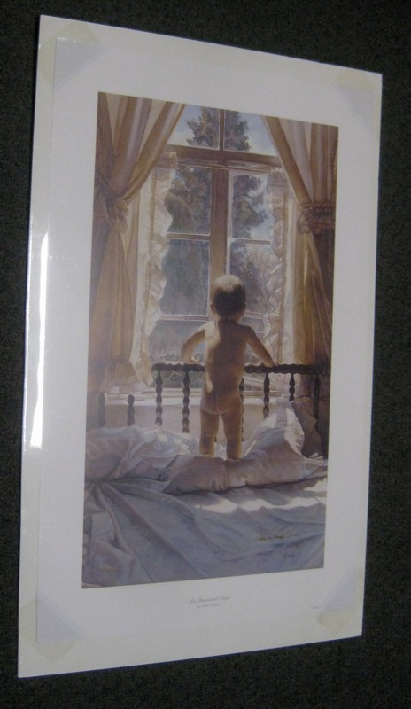 STEVE HANKS INNOCENT VIEW SIGNED NUMBERED ART PRINT 18.5 X 29.5
