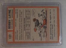 Lot 13: 1962 TOPPS FOOTBALL CARD 127 BOBBY LANE VG PITTSBURGH STEELERS HOF BLACK BORDERS