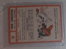 Lot 15: 1962 TOPPS FOOTBALL CARD FRAN TARKENTON RC VG-EX HOF MINNESOTA VIKINGS