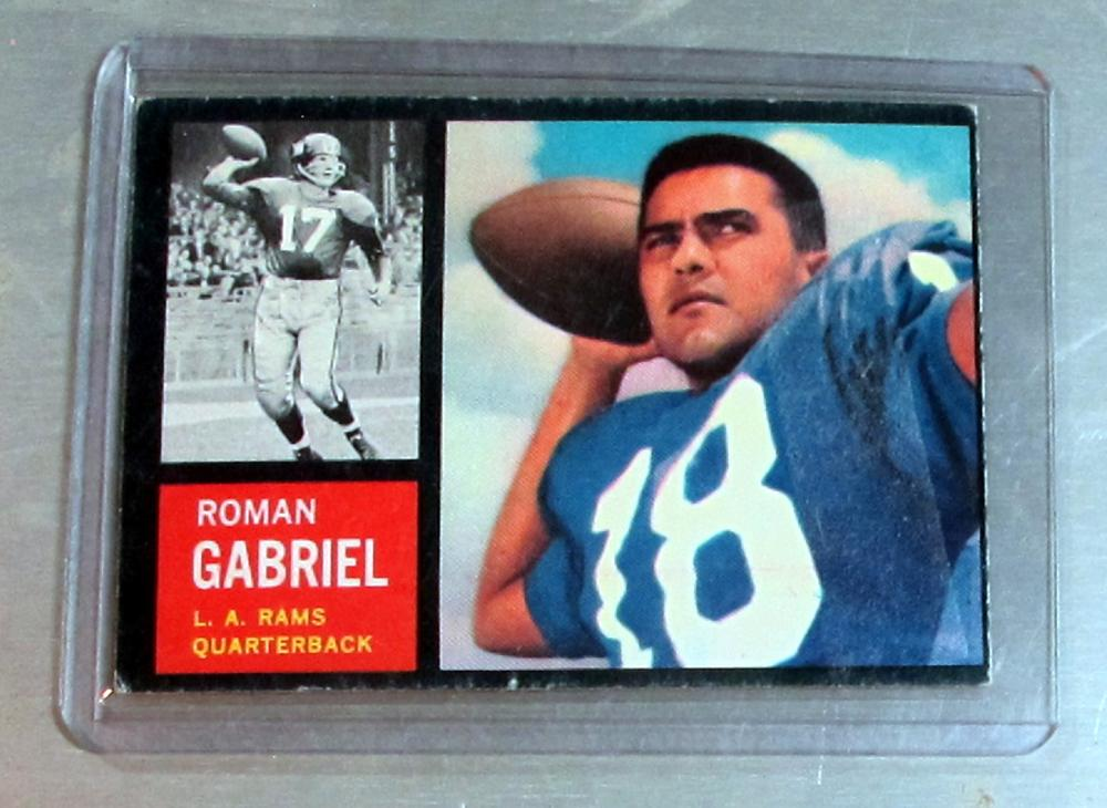 1962 TOPPS FOOTBALL CARD 88 SP RC ROMAN GABRIEL VG LOS ANGELES RAMS
