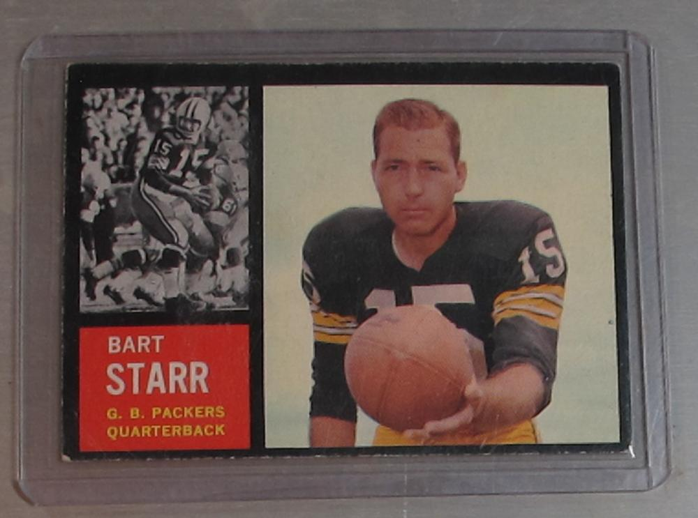1962 TOPPS FOOTBALL CARD 63 SP BART STARR VG-EX HOF GREEN BAY PACKERS