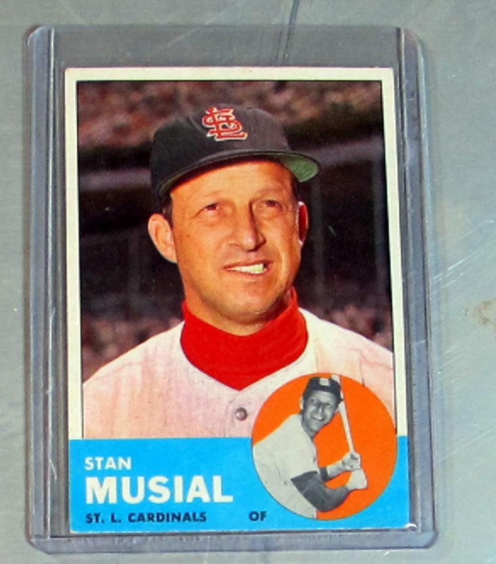 1963 TOPPS BASEBALL CARD 250 STAN MUSIAL HOF ST. LOUIS CARDINALS NICE EX+ EXMT