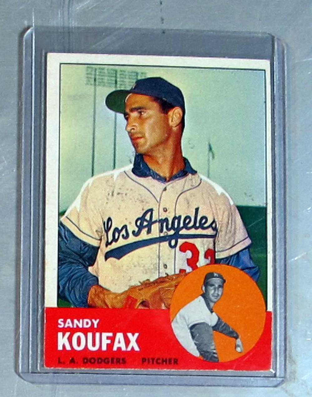 1963 TOPPS BASEBALL CARD 210 SANDY KOUFAX HOF LOS ANGELES DODGERS EX+ EXMT