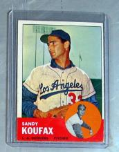 Lot 60: 1963 TOPPS BASEBALL CARD 210 SANDY KOUFAX HOF LOS ANGELES DODGERS EX+ EXMT