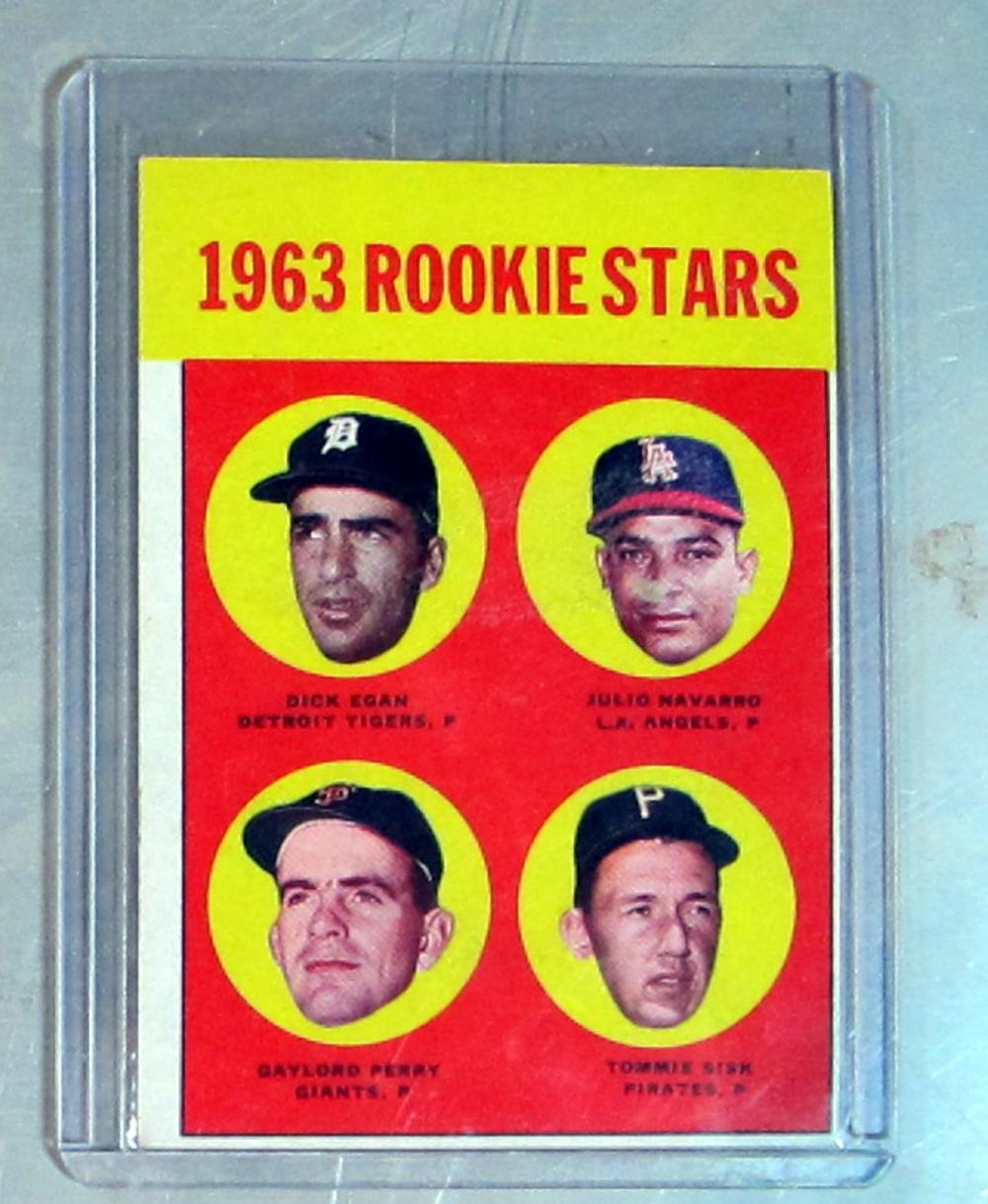 1963 TOPPS BASEBALL CARD 169 GAYLORD PERRY RC HOF SAN FRANCISCO GIANTS EX EX+