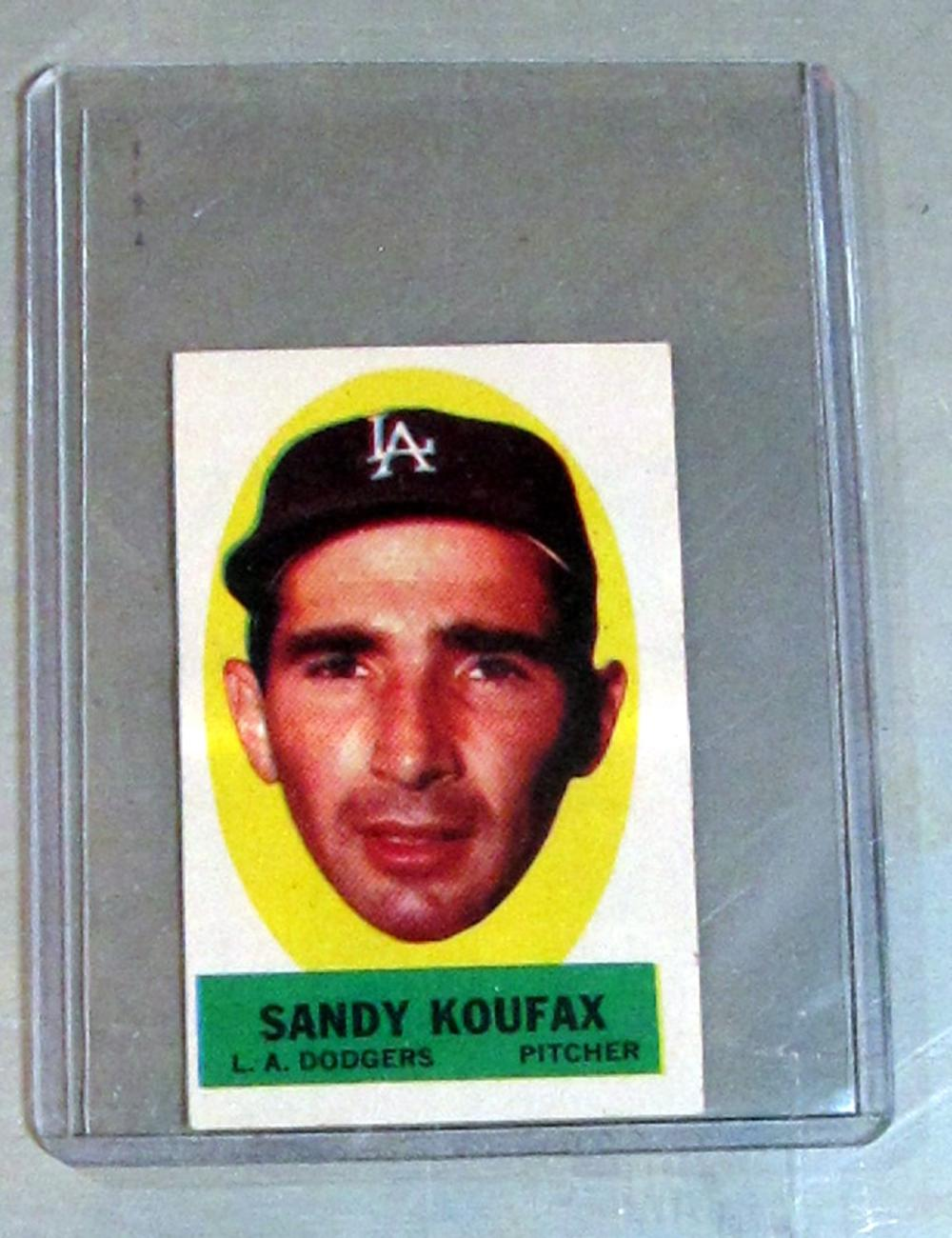 1963 TOPPS PEEL-OFFS INSERT SANDY KOUFAX HOF LOS ANGELES DODGERS EX-MT INSTRUCTION