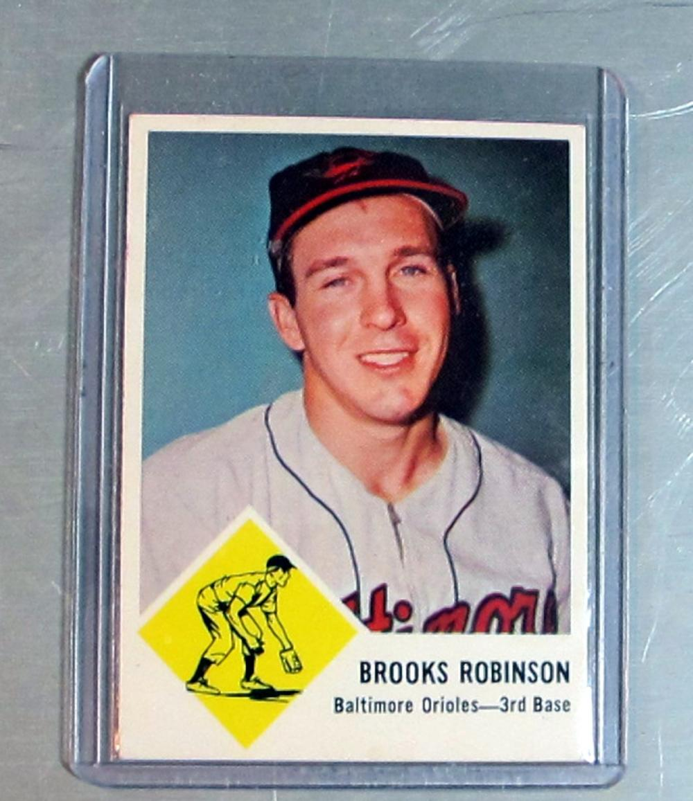 1963 FLEER BASEBALL CARD 4 BROOKS ROBINSON HOF BALTIMORE ORIOLES NICE NRMT