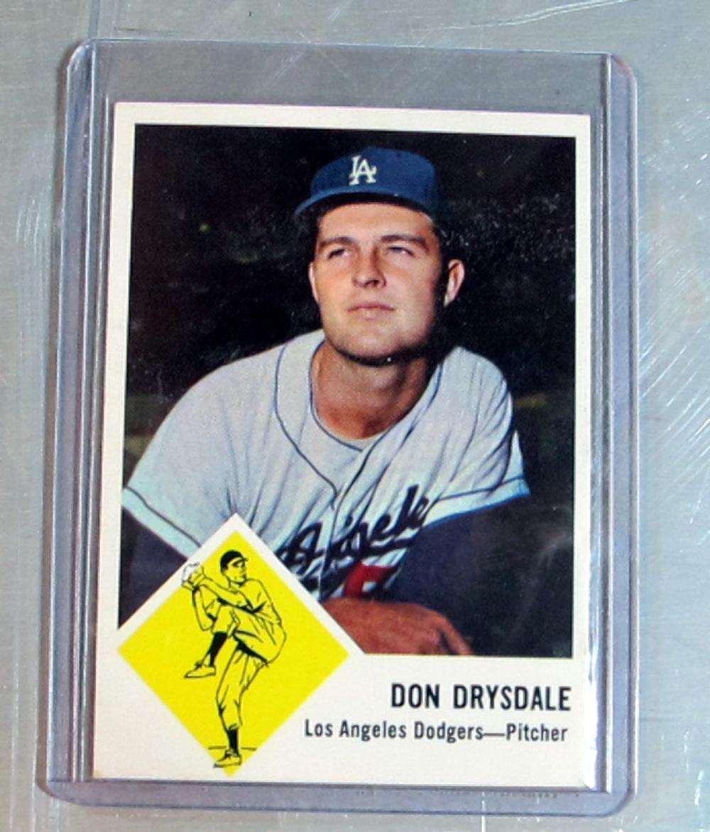 1963 FLEER BASEBALL CARD 41 HOF DON DRYSDALE LOS ANGELES DODGERS NICE NRMT