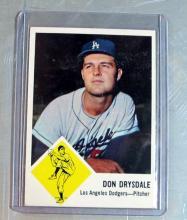 Lot 117: 1963 FLEER BASEBALL CARD 41 HOF DON DRYSDALE LOS ANGELES DODGERS NICE NRMT