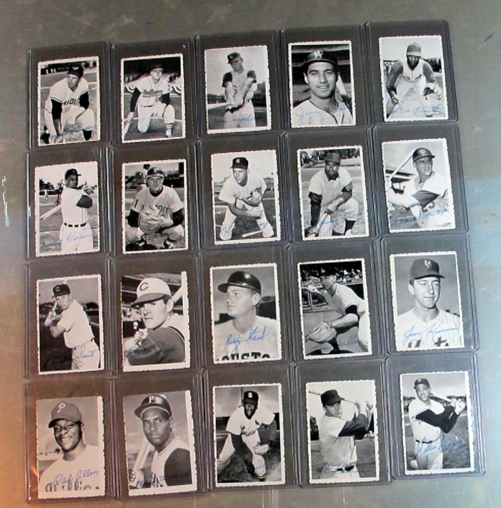 20 DIFF 1969 TOPPS DECKLE EDGE INSERT BASEBALL CARD LOT HOF ROSE CLEMENTE MAYS SANTO MORE VG-NRMT