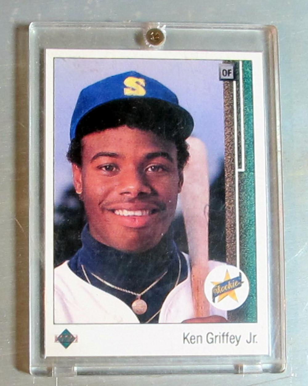 1989 UPPER DECK BASEBALL CARD 1 HOF KEN GRIFFEY JR. SEATTLE MARINERS NICE NRMT